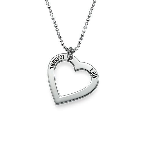71c5cf522369 Collar Corazón con Inscripción