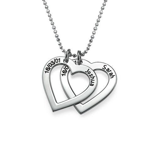 Collar Corazón con Inscripción, Plata de Ley - 1