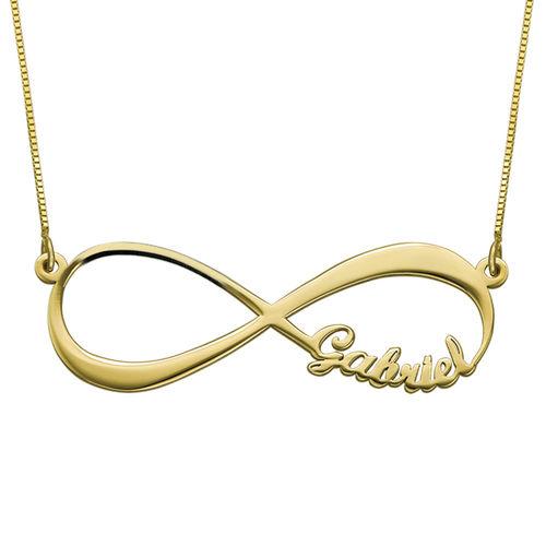 Collar Infinito con Nombre en Oro Amarillo de 14K - 1