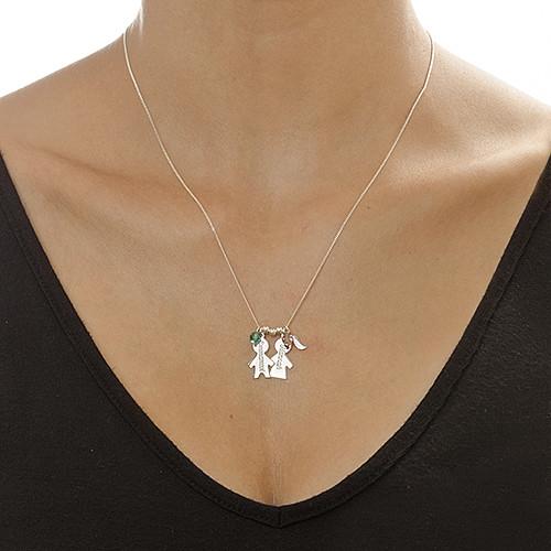 Collar Niño/ Niña Personalizado con Piedra de la Fortuna - 1