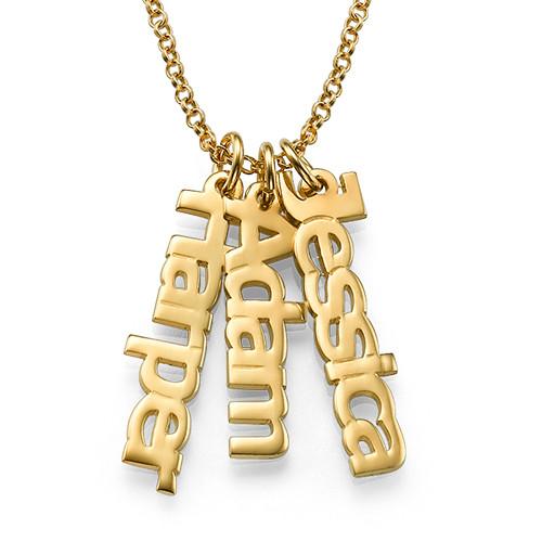 Collar Nombre Vertical Chapado en Oro 18k