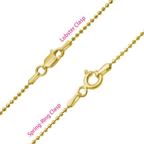 Collar Piecitos de Bebé Chapado en Oro 18K - 4