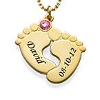 Collar Piecitos de Bebé Chapado en Oro 18K