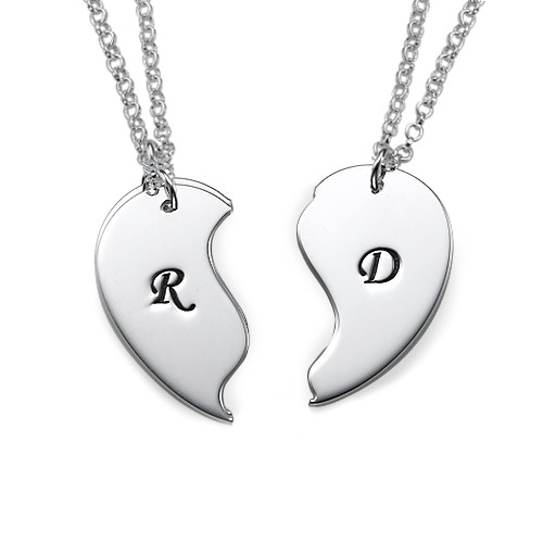 Collar con Iniciales Personalizadas con Corazón Divisible - 1