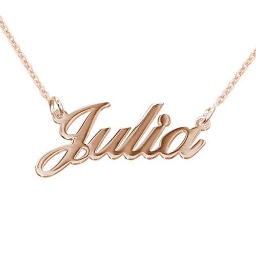 Collar con Nombre Clásico Chapado en Oro Rosa 18k