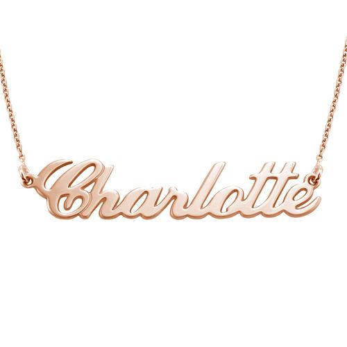 Collar con Nombre Clásico Chapado en Oro Rosa 18k - 2