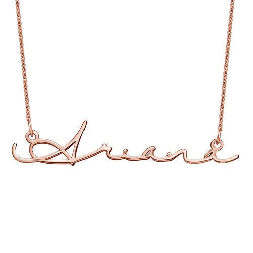 Collar con Nombre en Firma - Chapado en oro rosa