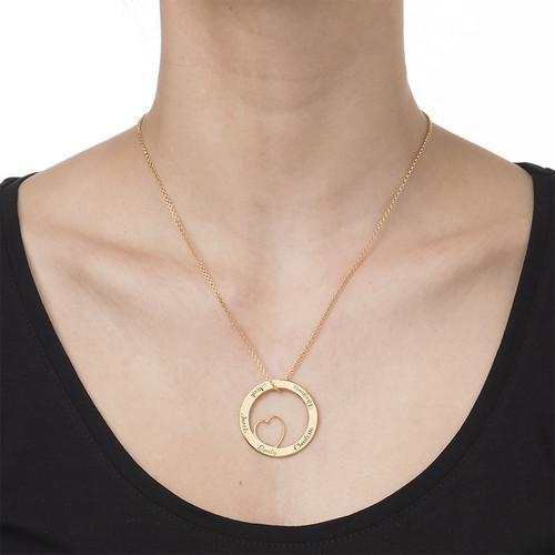 Collar de Familia Círculo de Amor Chapado en oro - 1