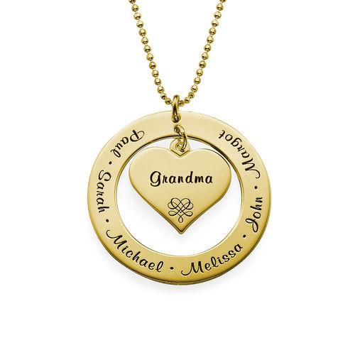 Collar de la Abuela o de la Mama con nombres – Chapado en Oro