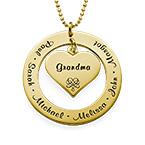 Collar de la Abuela o de la Mama con nombres – Chapa de Oro