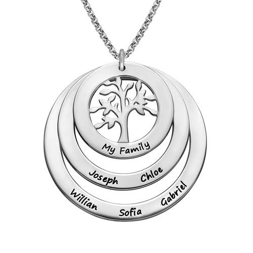 Collar del Círculo de Familia con árbol de la familia
