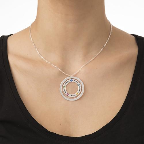 Collar del Círculo de la Familia con Piedra de Nacimiento - 3