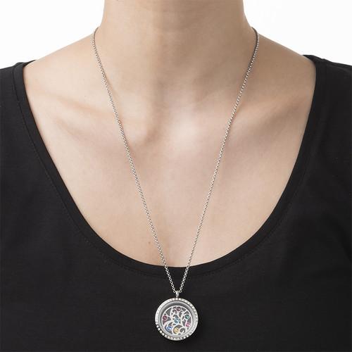 Medallón Flotante de Árbol de la Familia con Piedras de Nacimiento - 2
