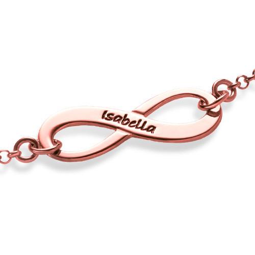 Pulsera Infinito Grabada chapada en oro rosa - 1