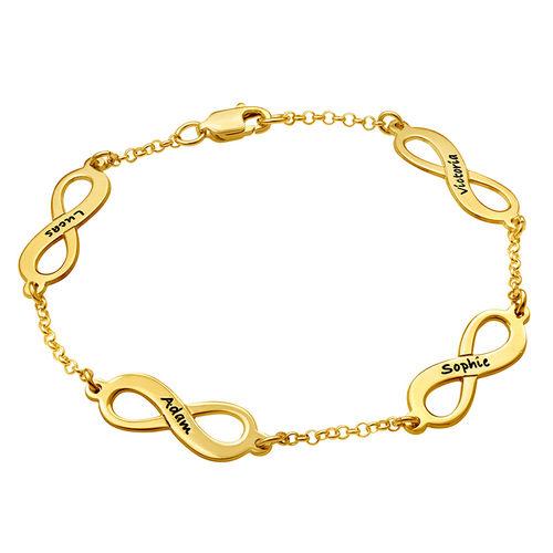 Pulsera Infinitos Múltiples con chapa de oro simboliza - 2