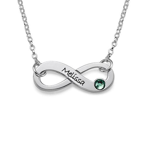 Llavero Infinity 925 plata colgante socios joyas nombre grabado