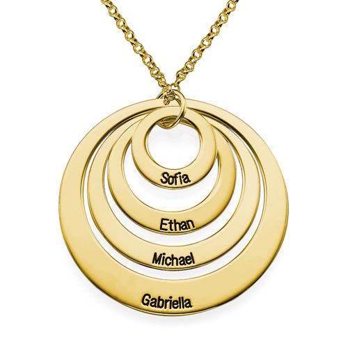 Collar de Cuatro Discos con Grabado chapado en oro