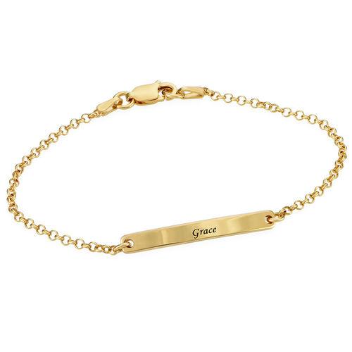 Pulsera de identificación para mujer chapada en oro