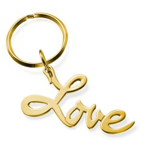 """Llavero """"Love"""" Chapado en Oro 18k"""