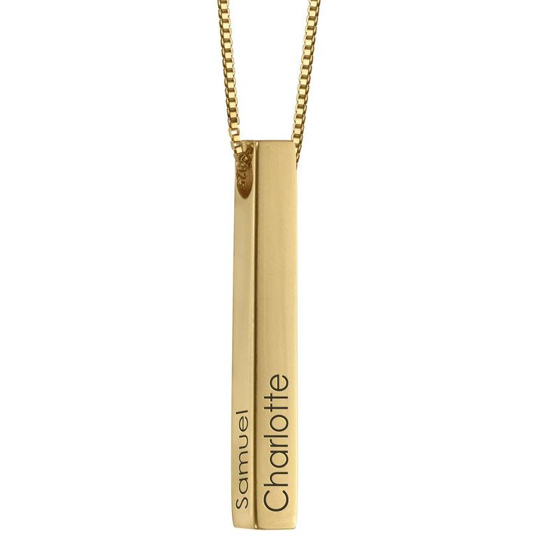 Collar de Barra Grabado 3D Chapado en Oro product photo