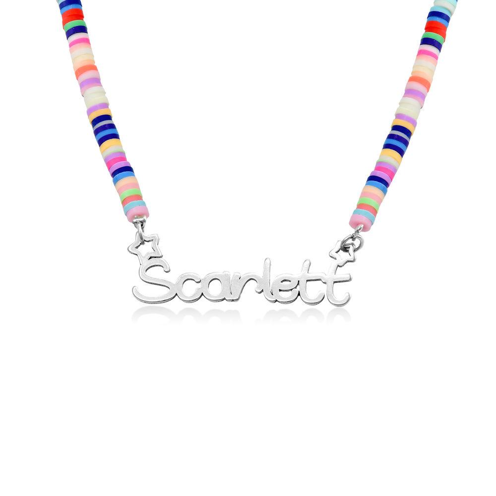 Collar de Cordón con Nombre para Niñas en Plata de Ley product photo