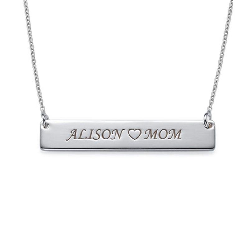 Collar de barra con Nombre en plata de ley product photo