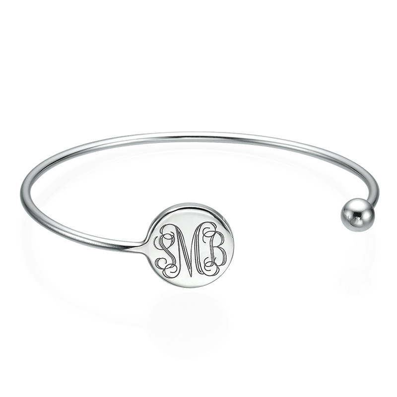 Pulsera Bangle Monograma en Plata Ajustable product photo
