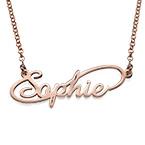 Collar con Nombre  Estilo Infinito chapado en Oro Rosa de 18k