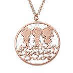 Collar Círculo para Mamá Chapado en Oro Rosa