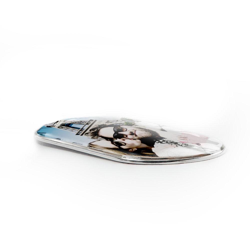 Sterling-hopeinen tuntolaatta kuvakaulakoru - 2
