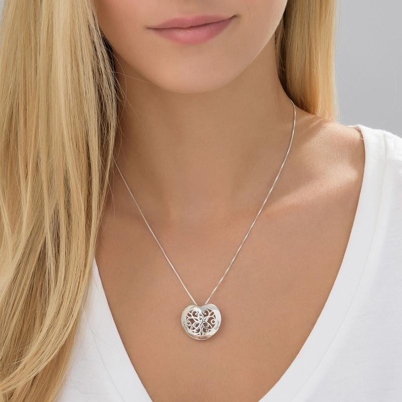 Kalevala sydän kaulakoru hopeisena - 2