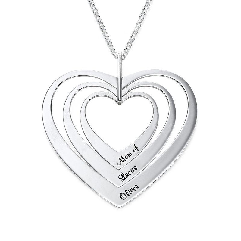 Sydänkaulakoru, sterling-hopea - 1
