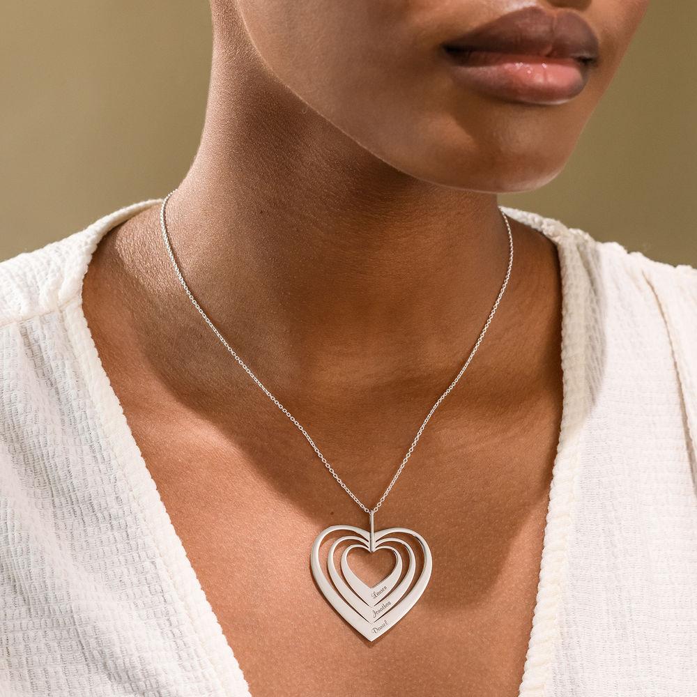 Sydän kaulakoru, valkokulta - 1