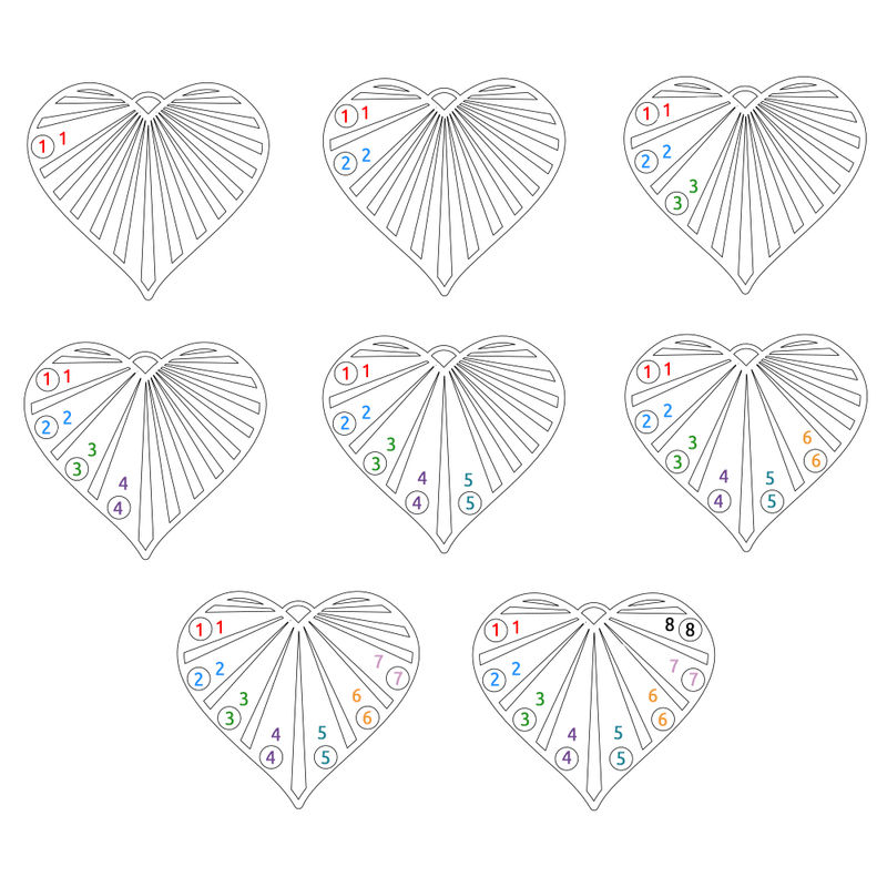 Sydänkaulakoru kuukausikivillä, 10K-keltakulta - 3