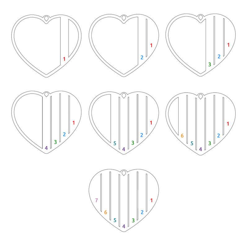 Äidin hopeinen sydänkaulakoru - 4