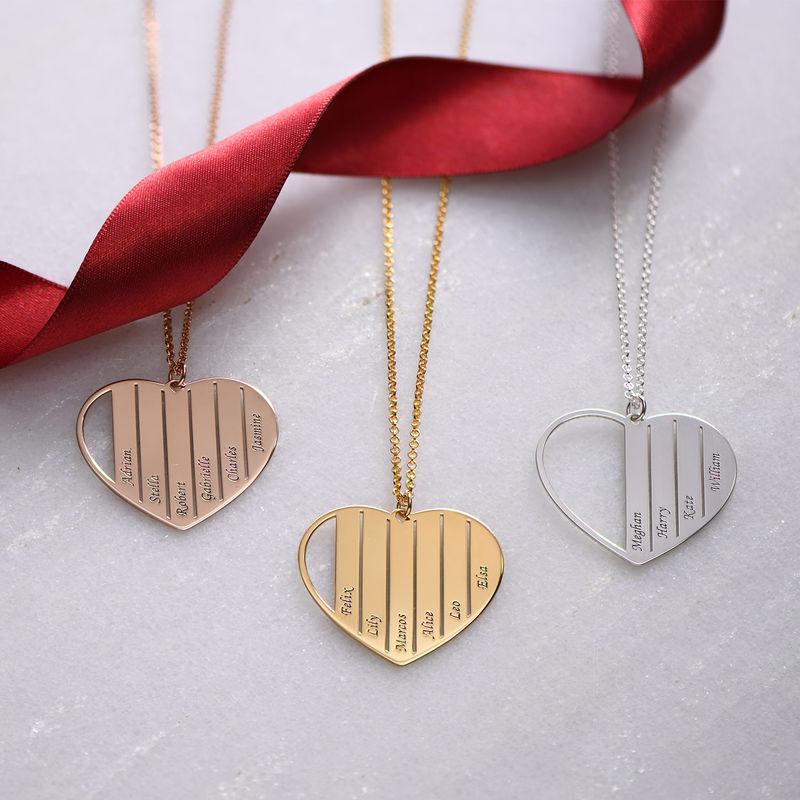 Äidin kullattu sydänkaulakoru - 1