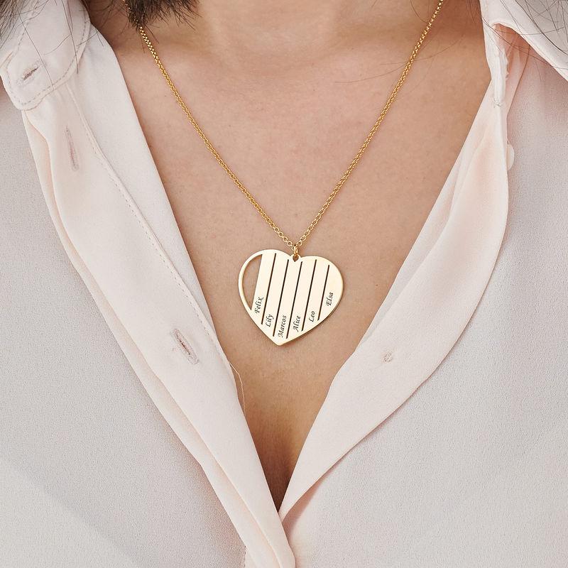 Äidin kullattu sydänkaulakoru - 3
