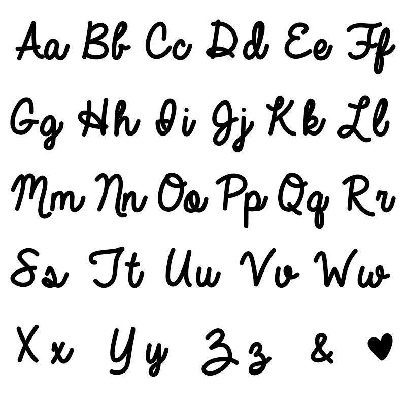 Käsinkirjoitus nimikoru, kullattu - 3