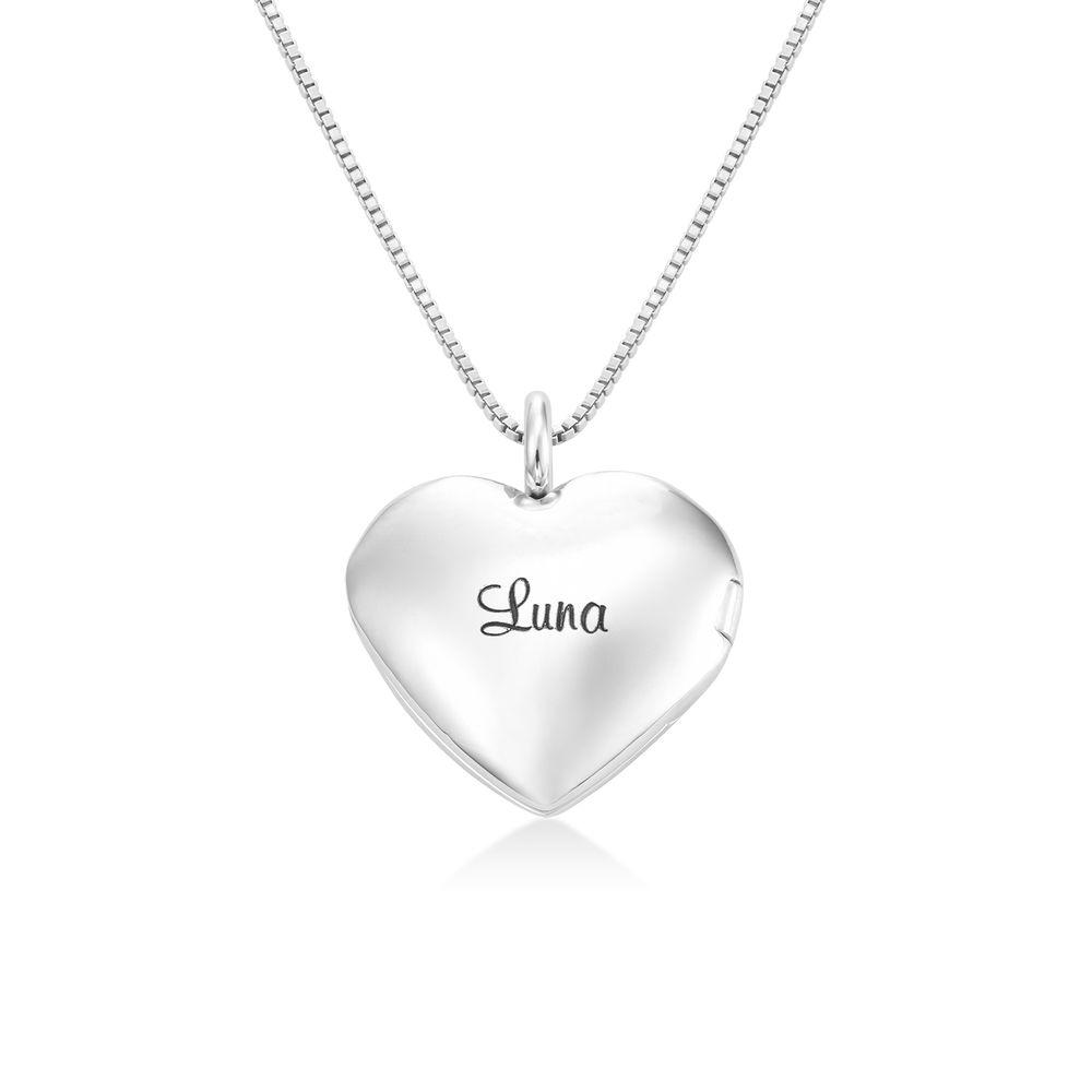 Sydänriipus-kaulakoru kaiverruksella Sterling-hopeisena