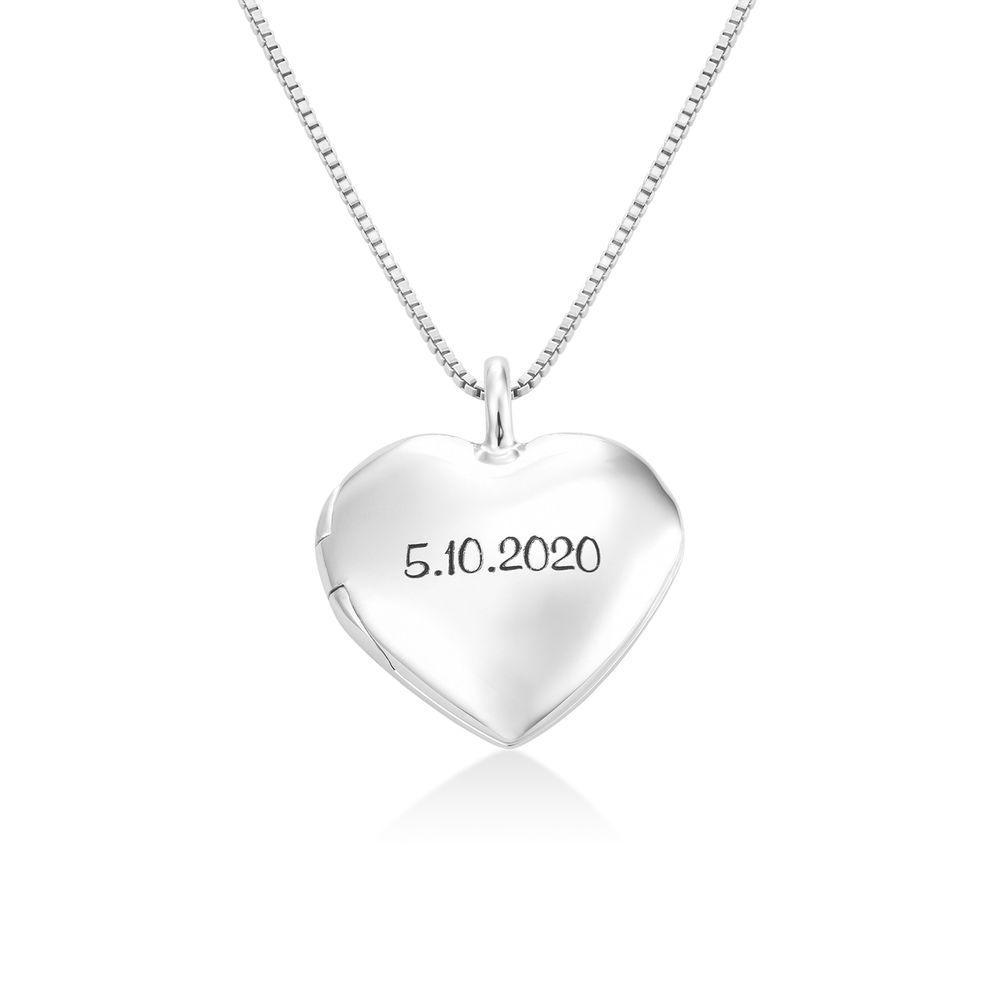 Sydänriipus-kaulakoru kaiverruksella Sterling-hopeisena - 1