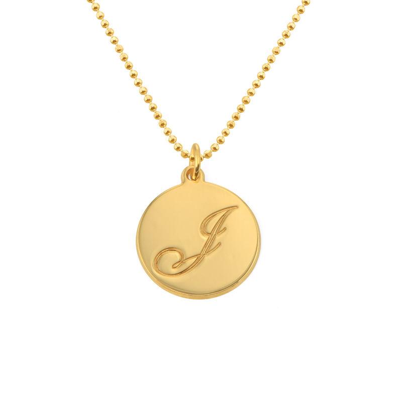 Kirjainriipus-kaulakoru, täyttä 10k kultaa