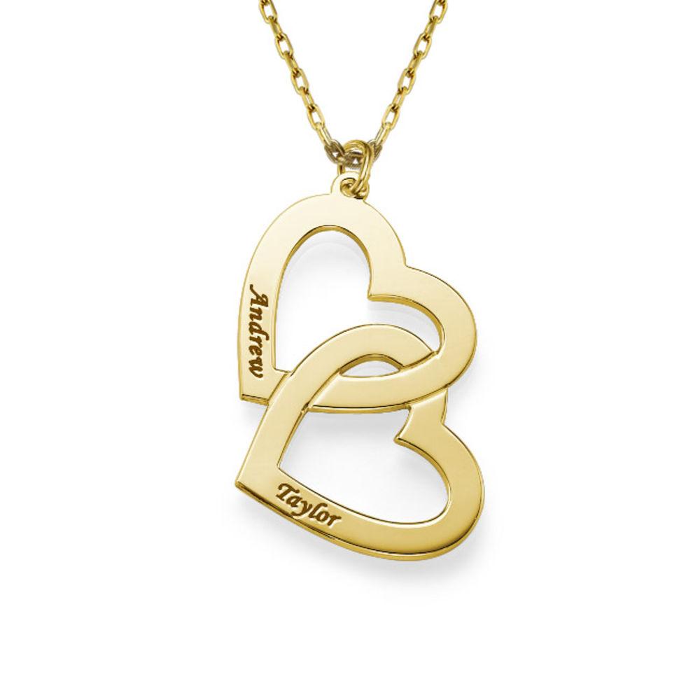 Sydän sydämessä -kaulakoru, 10k kultaisena