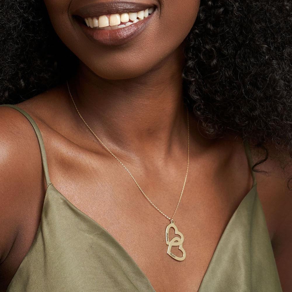 Sydän sydämessä -kaulakoru, 10k kultaisena - 1