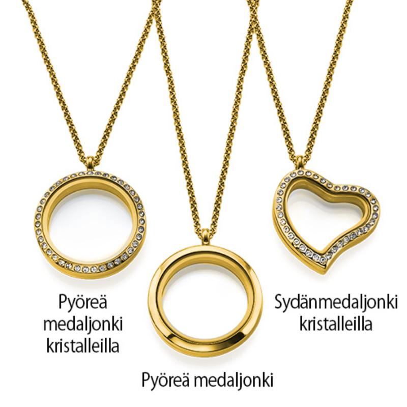 Äidin rakkaus -medaljonki – kullattu - 3
