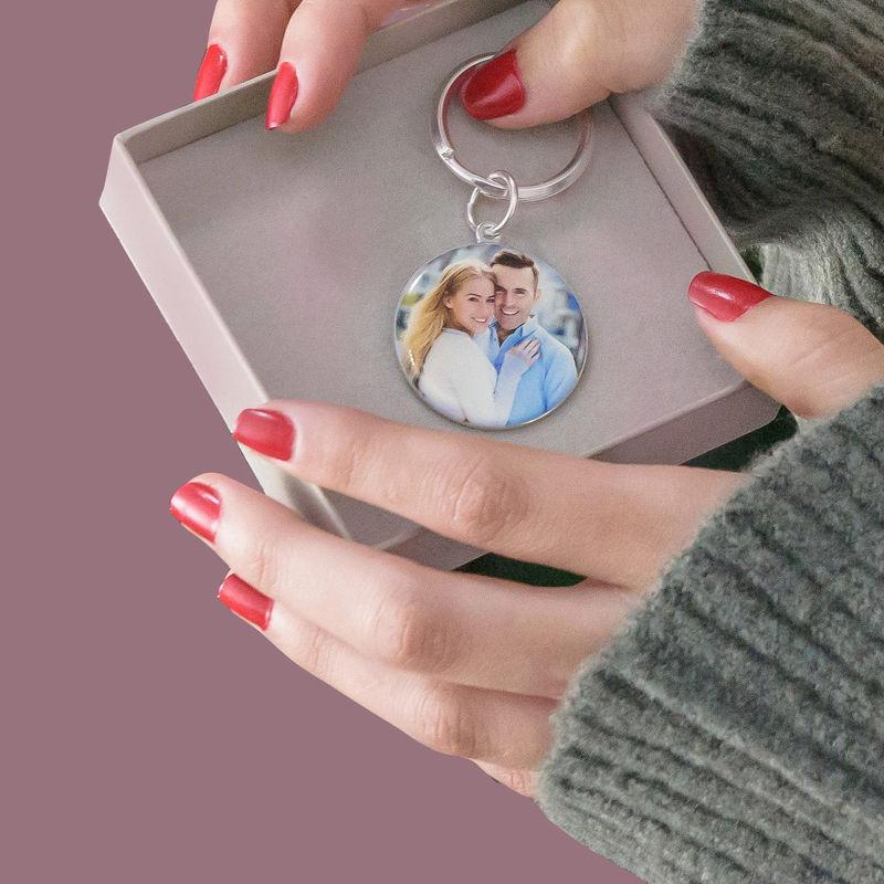 Kaiverrettu valokuva-avaimenperä omalla kuvalla – pyöreä - 5