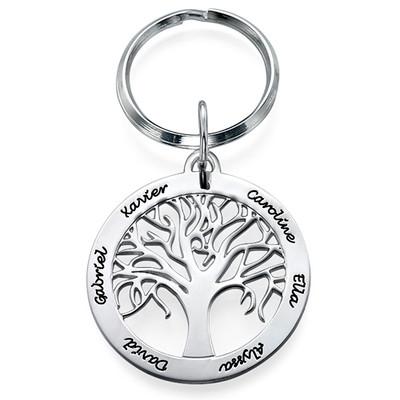 Hopeinen Sukupuu-Avaimenperä
