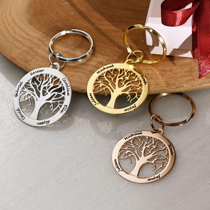 Personoitu elämänpuu avaimenperä kultauksella - 2