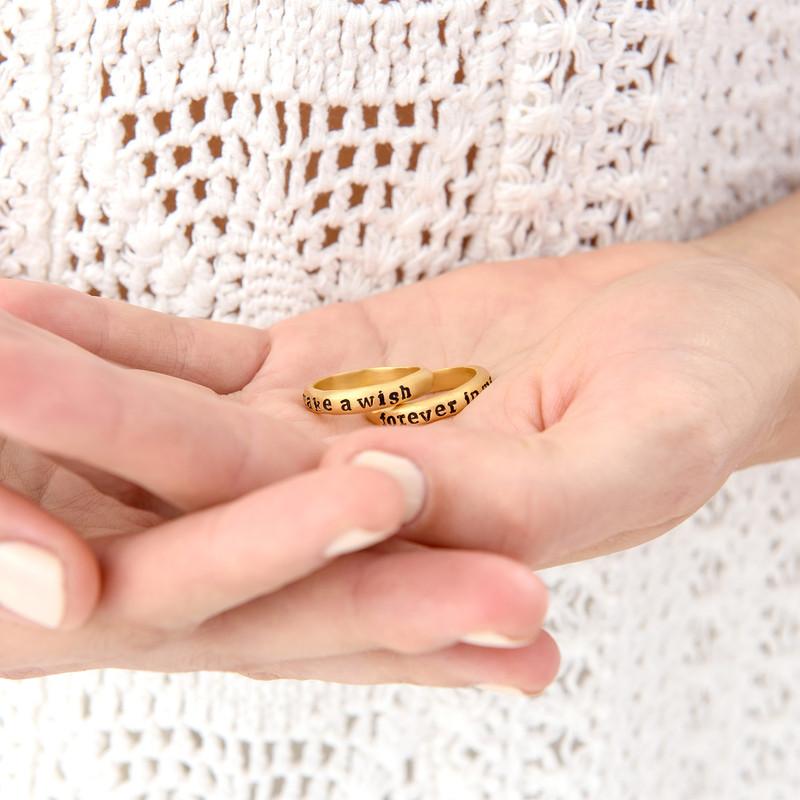 Pinottava nimi sormus, kullattu - 3