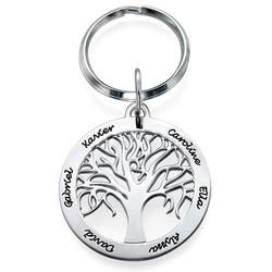 Hopeinen Sukupuu-Avaimenperä tuotekuva