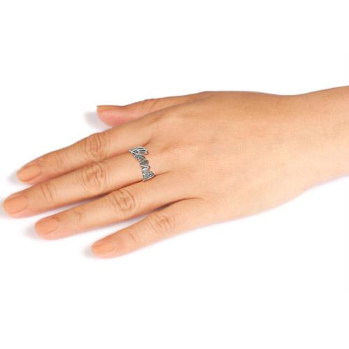 Hopeinen Nimileikkaus-sormus - 1